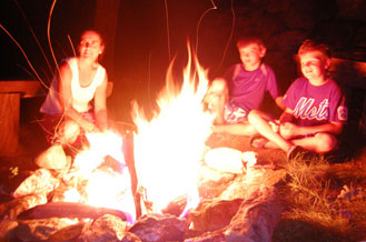 Cashiers NC - Fire Pit for Evening Campfires