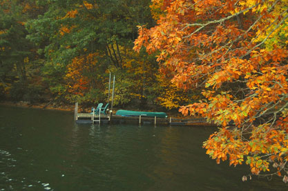 blue ridge cabin rentals - Hemlock-Hill-Dock-with-Canoe