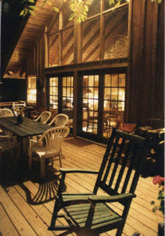 blue ridge cabin rentals - Hemlock Hill Outside Dining
