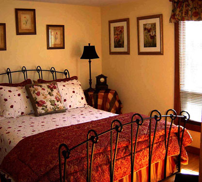 blue ridge cabin rentals - Queen Bedroom with Bath