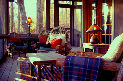 blue ridge cabin rentals - Screened-reading-porch