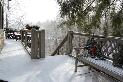 Luxury Cabins Cashiers NC - Snowy morning