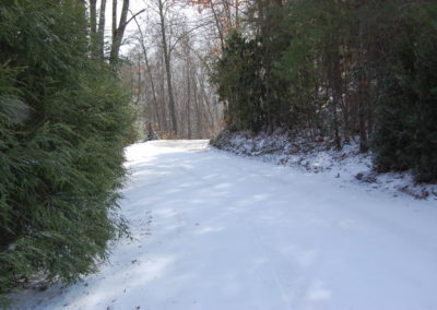 Snowy Road to Hemlock Hill Cottage