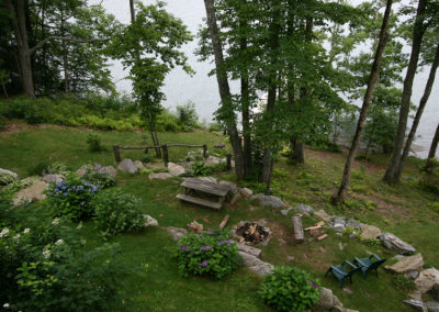 Fire Pit and Lake Front
