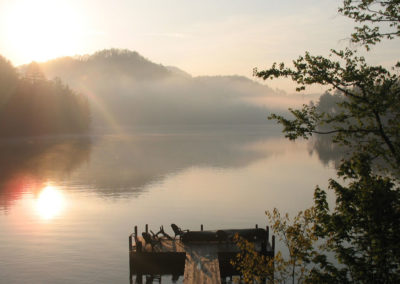 Sunrise at Fern Bank's Dock